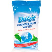 Pack of 50 Duzzit Disinfectant Wipes