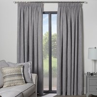 Salisbury Metallic Curtains - Silver / 229cm