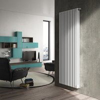 Towelrads 3 Column Vertical White Radiator  - White / 486mm