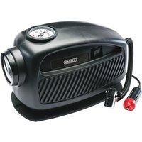 Draper 12V Mini Analogue Air Compressor - Black