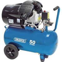 Draper 50L V Twin Air Compressor 2.2Kw - Blue