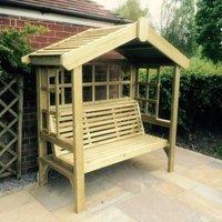Cottage Arbour Trellis 3 Seater - Pine