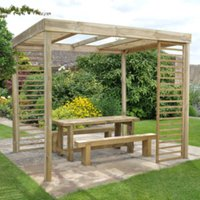 Dining Pergola With Panels