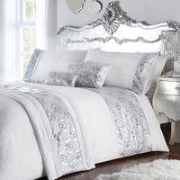 Krista Duvet Cover and Pillowcase Set - Silver / Double