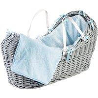 Blue Pebble Grey Pod Moses Basket - Blue
