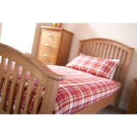 Madrid High Foot End Bed Frame - Oak / Small Double