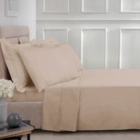 Polycotton Flat Sheet - Natural / Double