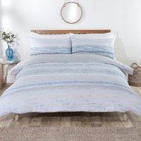 Haven Stripe Duvet Cover and Pillowcase Set - Blue / Single