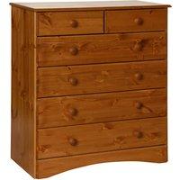 Scandi Six Drawer Chest - Pine