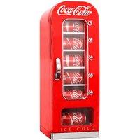 Koolatron Coca-Cola Retro Vending Machine Style 10 Can Mini Fridge - Red