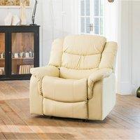 Almeira Reclining Armchair - White