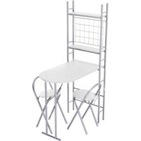 Folding 2 Seater Kitchen Dining Table - White