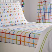 Doodle Fitted Sheet - Multi / Double