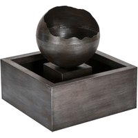 Floating Sphere Water Feature - Charcoal