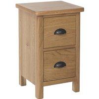 Cambridge Small Bedside Cabinet  - Rustic Oak