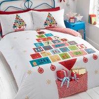 Advent Present Pocket Duvet Cover and Pillowcase Set - Single