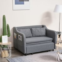 Convertible Sleeper Sofa Bed with Armrest  - Grey