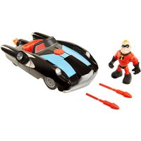 Disney Pixar Incredibles 2 Junior Supers Vehicle - Incredible Car & Mr.Incredible - The Entertainer Gifts