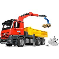 Bruder Mb Arocs Construction Truck With Crane & 2 Pallets