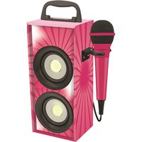 Portable Bluetooth Karaoke With Microphone - Pink