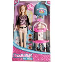 Bonnie Pink Ginger Hair Doll - Pet House Play Set - Ginger Gifts