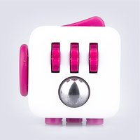 Fidget Cube Original Anti-Stress Toy - Pink and White