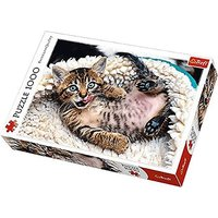 Trefl Cheerful Kitten Jigsaw Puzzle - 1000pc. - The Entertainer Gifts