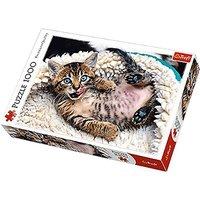 Trefl Cheerful Kitten Jigsaw Puzzle - 1000pc. - Jigsaw Puzzle Gifts