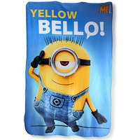 Despicable Me Fleece Blanket - Blue - Despicable Me Gifts