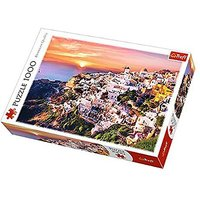 Trefl Sunset Over Santorini Jigsaw Puzzle - 1000pc. - The Entertainer Gifts