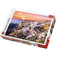 Trefl Sunset Over Santorini Jigsaw Puzzle - 1000pc. - Jigsaw Puzzle Gifts