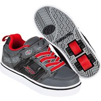 Heelys - Size 2 - X2 Black and Red Bolt Skate Shoes - Heelys Gifts