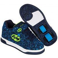 Heelys - Size 2 - X2 Navy Blue Dual Up Skate Shoes - Heelys Gifts