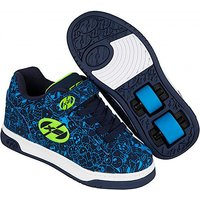 Heelys - Size 3 - X2 Navy Blue Dual Up Skate Shoes - Heelys Gifts