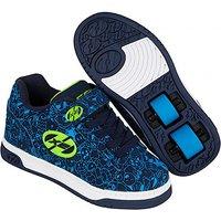 Heelys - Size 1 - X2 Navy Blue Dual Up Skate Shoes - Heelys Gifts