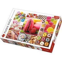 Trefl Candy Collage Jigsaw Puzzle - 1000 pc. - Pc Gifts