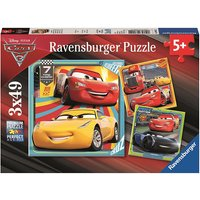 Ravensburger Jigsaw Puzzle Cars 3 - 3 x 49 Pieces - The Entertainer Gifts