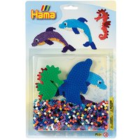 Hama Beads Starter Pack - Dolphins & Seahorse - Dolphins Gifts