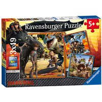 Ravensburger How to Train your Dragon 3 x 49 Piece Puzzles - Puzzles Gifts