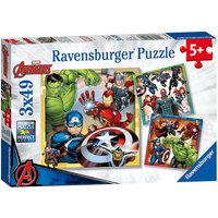 Ravensburger Jigsaw Puzzle - Marvel Avengers Assemble 3 x 49 Pieces - Jigsaw Puzzle Gifts