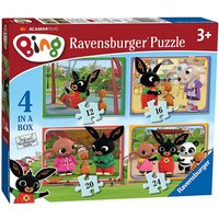 Ravensburger 4 in a Box Jigsaw Puzzle - Bing Bunny - Puzzle Gifts