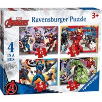 Ravensburger 4 in a Box Puzzles - Marvel Avengers - The Entertainer Gifts