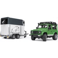 Bruder Land Rover Defender with horse trailer inkl. 1 horse - Land Rover Gifts
