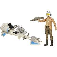 Star Wars 30cm Speeder Bike and Poe Dameron Figure - Star Wars Gifts