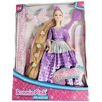 Bonnie Pink Blond Ultra Hair Princess Doll - Purple Dress