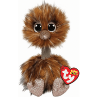 Ty Beanie Boo 15cm Soft Toy - Orson Brown Ostrich - Brown Gifts