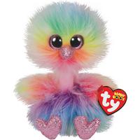 Ty Beanie Boo 15cm Soft Toy - Asha the Ostrich - Beanie Gifts