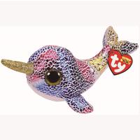 Ty Beanie Boo 15cm Soft Toy - Nova The Narwhal - Beanie Gifts