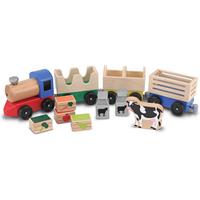 Melissa & Doug - Wooden Farm Train - Farm Gifts