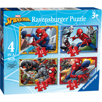 Ravensburger 4 In A Box Jigsaw Puzzle Spider-Man (Styles Vary) - Ravensburger Gifts